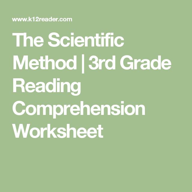 The scientific method 3rd grade reading comprehension worksheet the scientific method 3rd grade reading comprehension worksheet ibookread ePUb