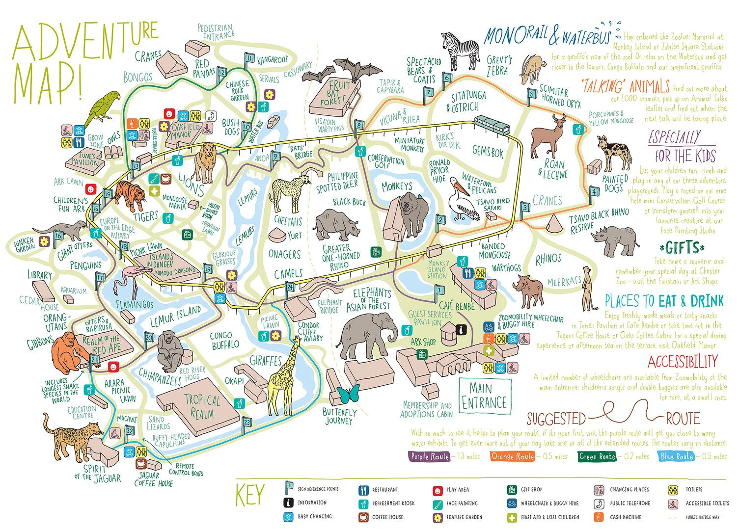 Chester Zoo Map Adam Hayes | Zoo maps | Pinterest | Zoo map, Map and Chester zoo Chester Zoo Map