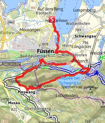 Von Fussen Nach Hohenschwangau Schwan Reisen Schwarze Berge