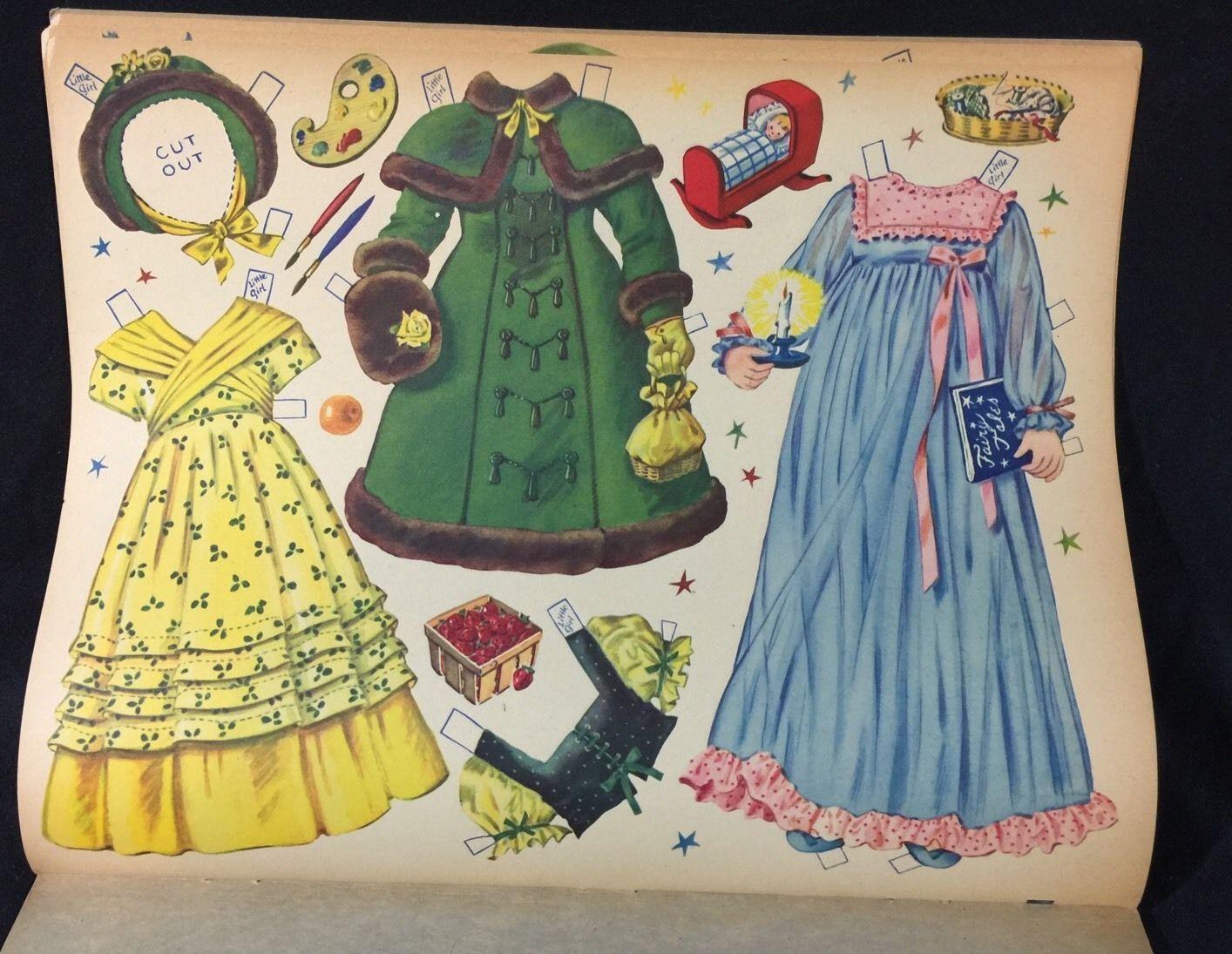 Uncut The Little Fairy Paper Dolls Merrill Uncut 1951   eBay