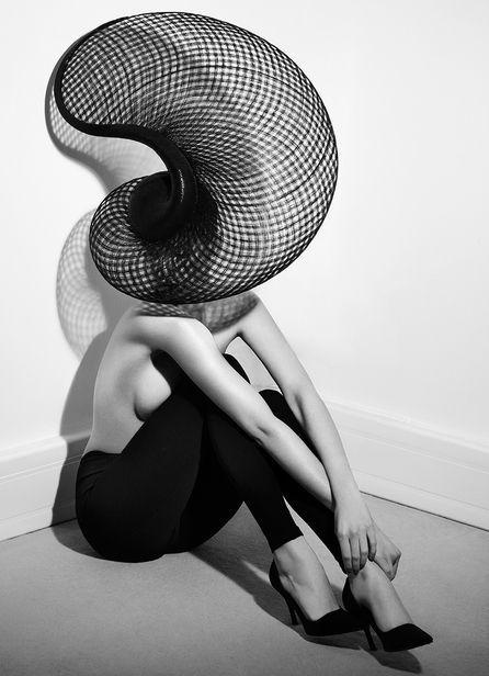 Phillippe Kerlo photographed Philip Treacy 's hats for OOP magazine.