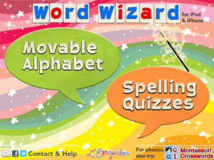Word Wizard is a great app for sentence building, spelling
