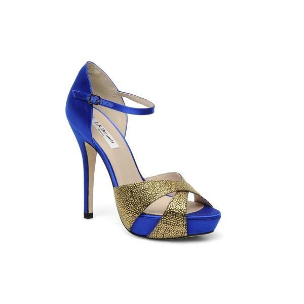 azul eléctrico y dorado
