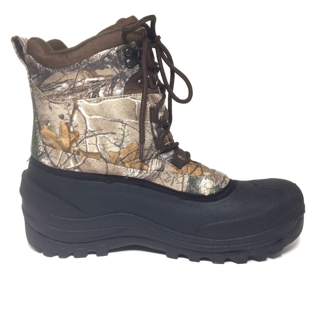 cc33455aff41 Winter Boots Size 10 Mens Ozark Trail 3M Thinsulate Realtree Camo Worn Once  Snow  OzarkTrail  SnowWinter