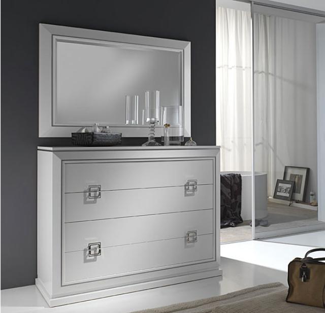 pintar un mueble lacado en blanco o en color cmoda lacada en blanco