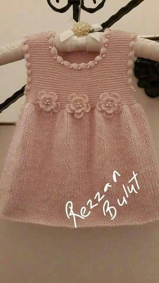 Cute knitted child's dress!