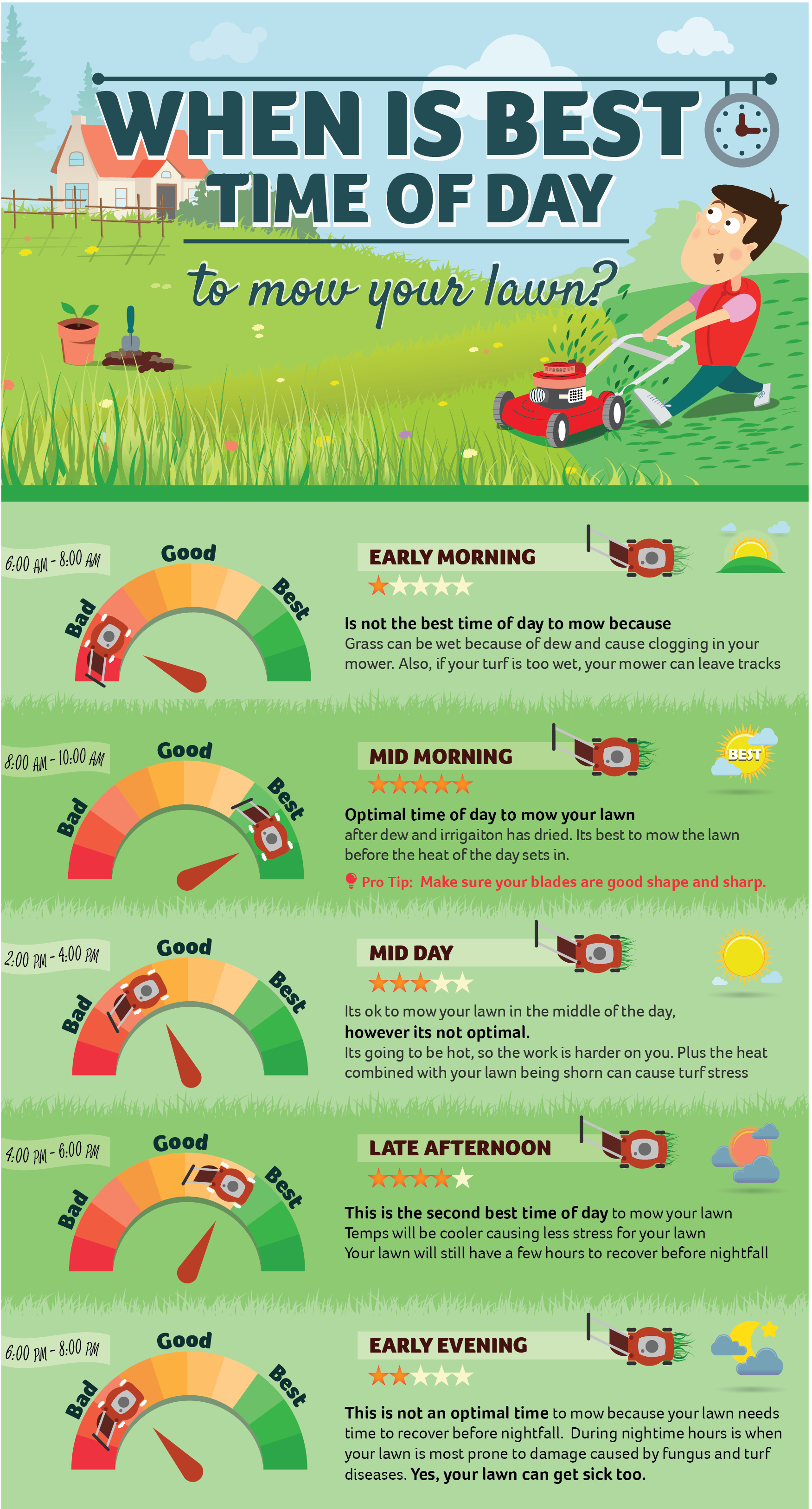 Best Time Of Day To Mow Your Lawn Read More Info By Clicking The Link On The Image Dogscaretips Lawn Care Lawn Care Business Lawn