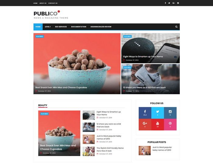 Publico News Template Top 60 Blogger Best Free Responsive News