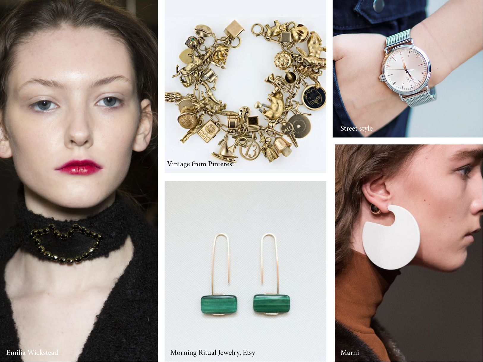 jewelry trends for spring summer 2017 colors black