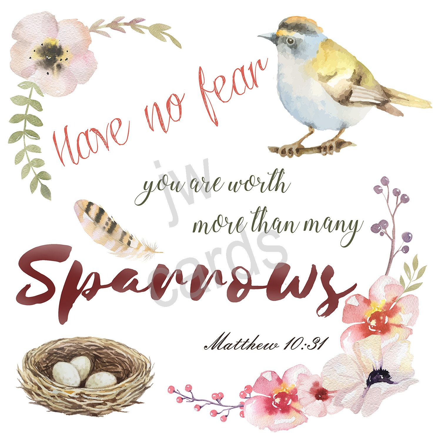 Jw Greeting Card 5 X 5 Any Occasion Jehovahs Witnesses Have No Fear