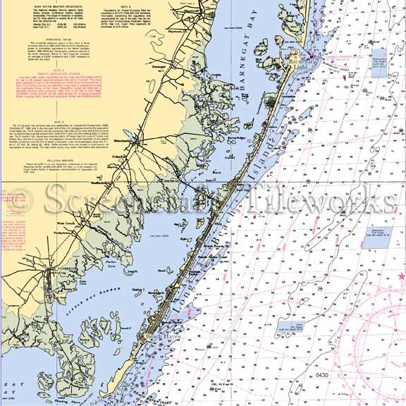 New Jersey Barnegat Bay Nautical Chart Decor Tropical House Design Tropical Interior Design Tropical Decor