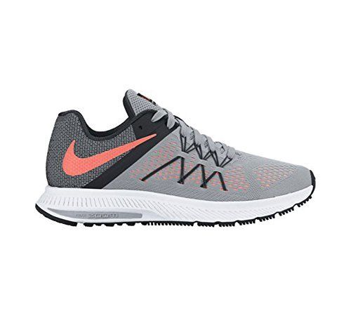 timeless design d02da a8eda New Nike Womens Zoom Winflo 3 Running Shoe GreyMango 8.5. Flywire  technology in the upper. Engineered mesh for breathability. Zoom Air unit.