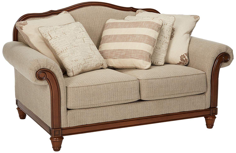 Ashley Furniture Signature Design Berwyn View Loveseat Traditional Style Quartz Very Nice O Bed Furniture Design Ashley Furniture Wooden Sofa Designs