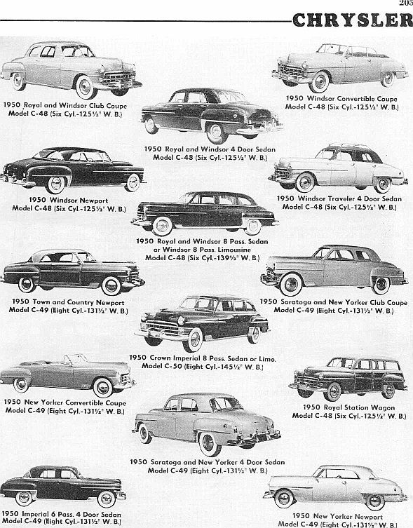 1950 chrysler models  look at that chrysler family