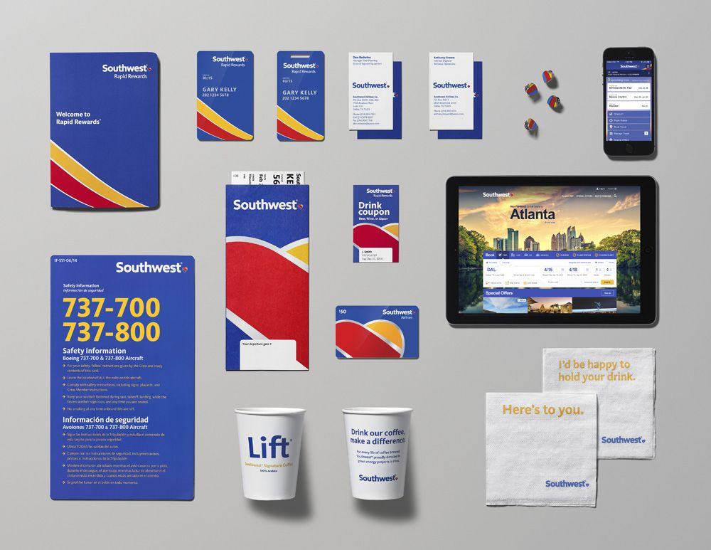 New Logo, Identity, and Livery for Southwest Airlines by ...