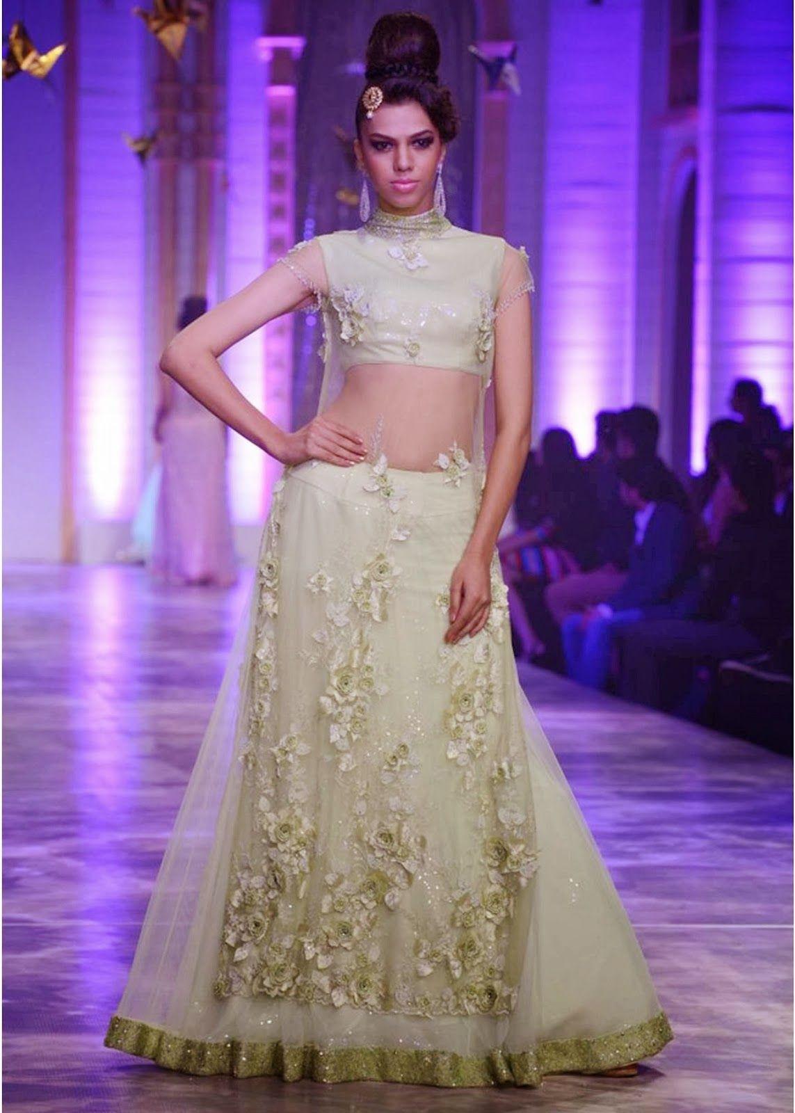 Z Fashion Trend: OFF WHITE PARTY WEAR DRESS BY NEETA LULLA ...