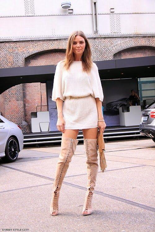 0383cdff3da Mercedes benz fashion week amsterdam over the knee boots amsterdam fashion  week