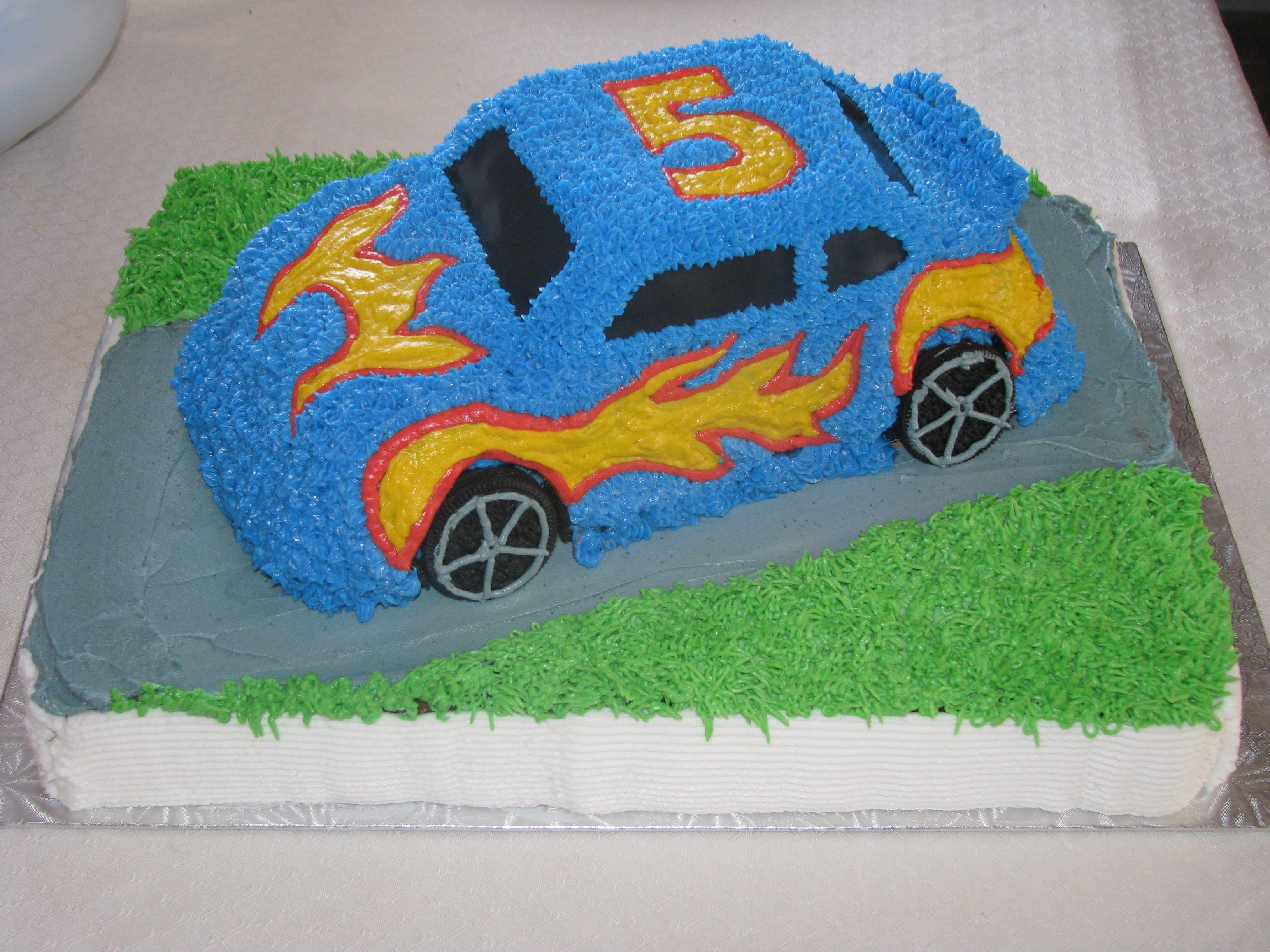 3d Hot Wheels Car Cake With Images Race Car Cakes Hot Wheels