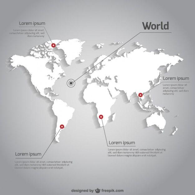 vecteur de la carte du monde modle infographique map designgraphic designworld map vector