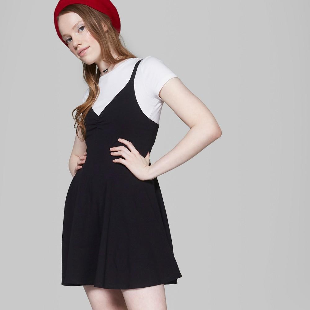 7f54b876576 Women s Strappy Knit Skater Dress - Wild Fable Black Xxl