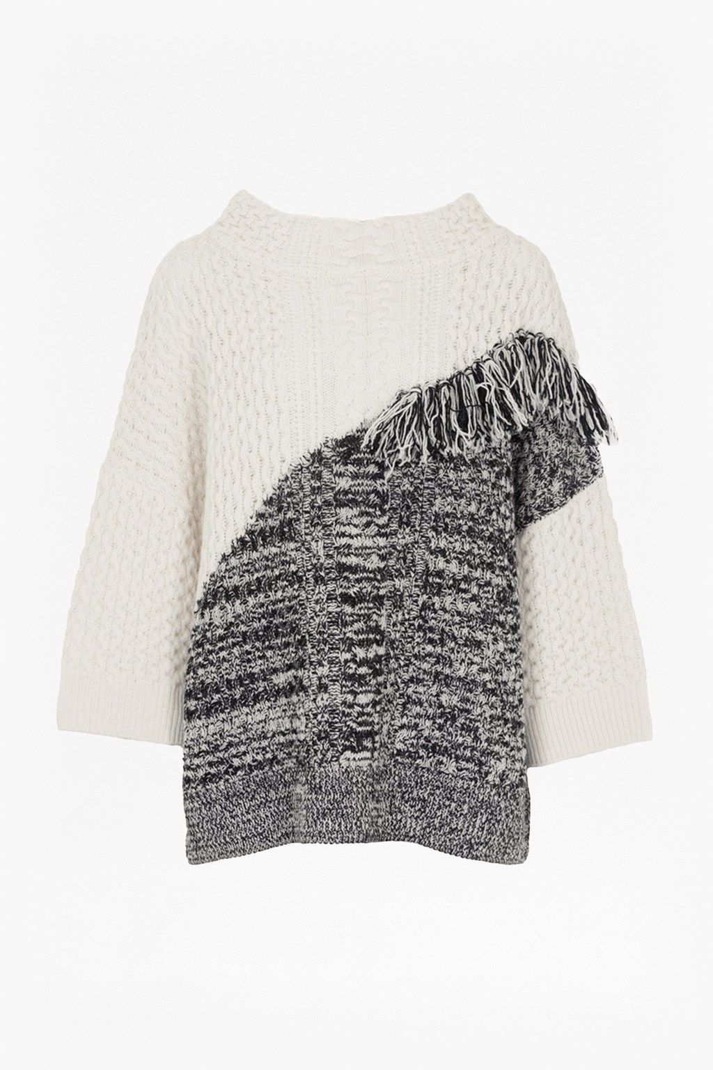 Fringed Cable Knit Jumper | Sweats & Sweaters | French