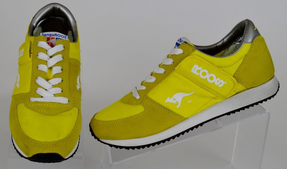 99e3d716cd37f4 women s Kangaroos Roos yellow suede lace ups zip pocket athletic sneakers  9.5 41  Kangaroos  WalkingHikingTrail