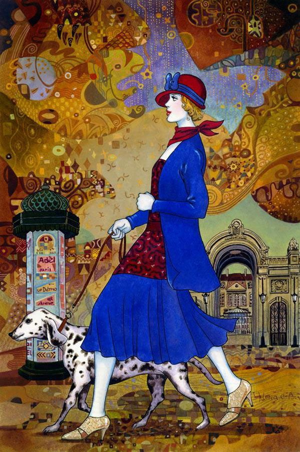 Helena Lam And Her Works In Art Deco Style Art Deco Paintings Art Deco Illustration Art Deco Artists