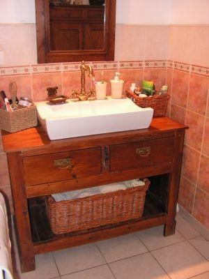 ancien comptoir relooke meuble salle bains etes as - Meuble Ancien Salle De Bain
