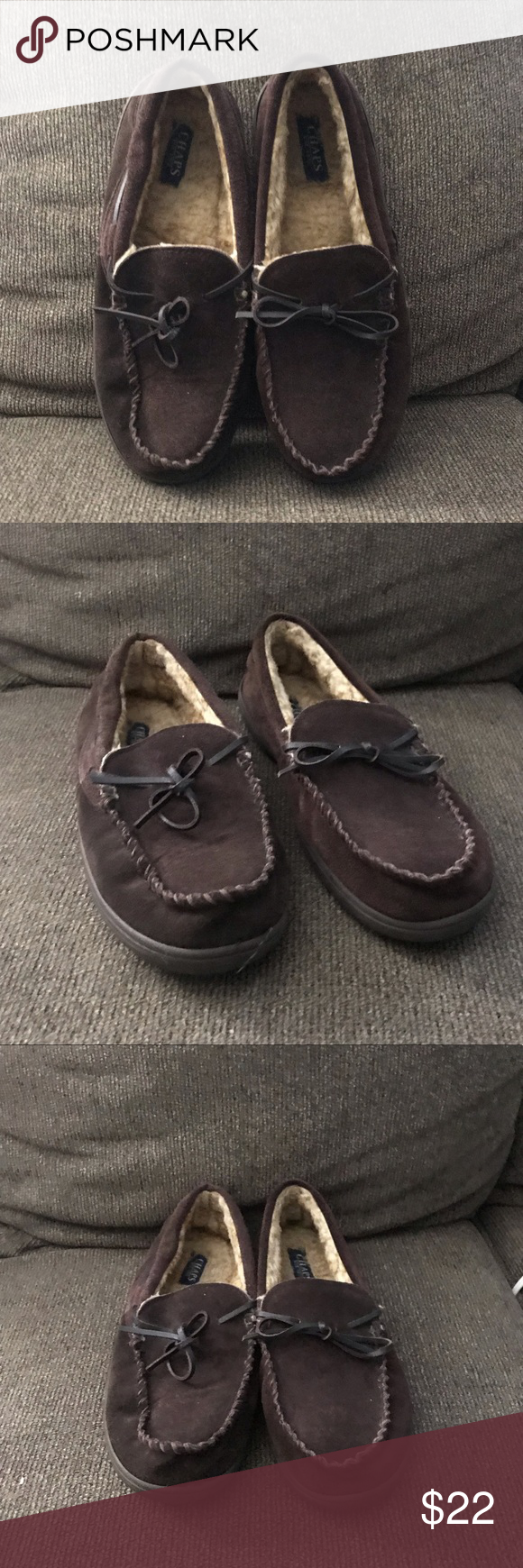 Chaps Mens Slippers Size L 9.5-10.5 Reasonable Price Slippers