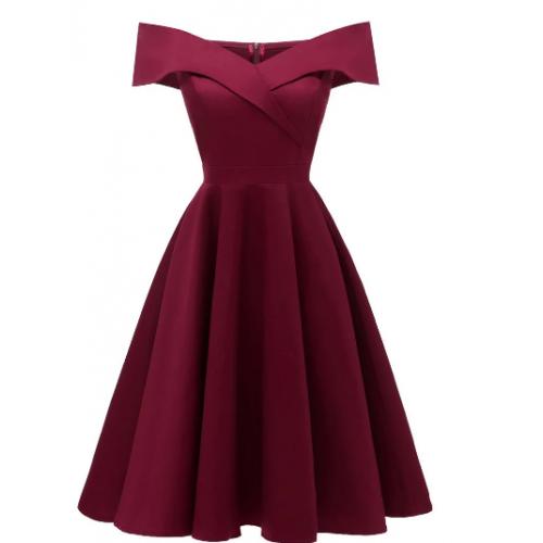 Photo of #vintage kleider Off The Shoulder Foldover Cocktail Dress – Deep