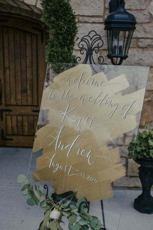 Plexiglass Wedding Welcome Sign Repin By At Social Media
