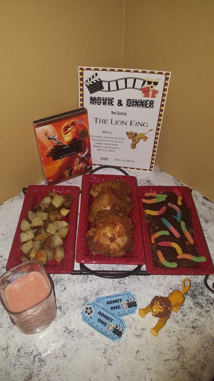 Lion King Movie Night Disney Movie Night Dinner Movie Night Dinner Disney Movie Night