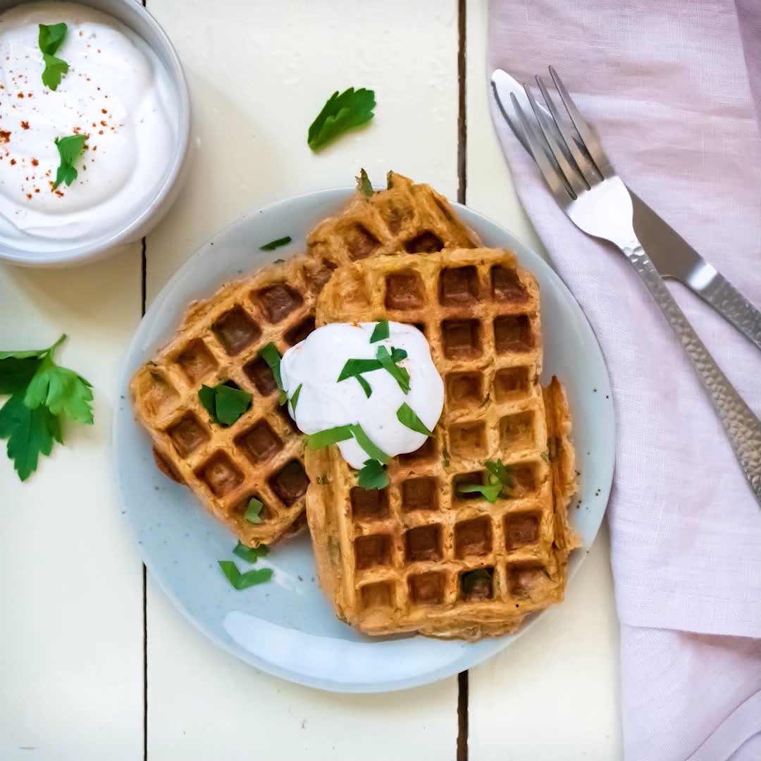 Photo of Leftovers: Potato and herb waffles