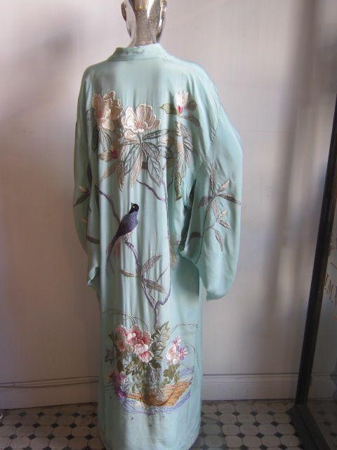 1900-1920 silk embroidered dressing gown | k i m o n o ...