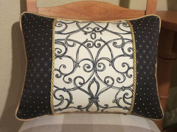 French Country Pillow Cover Elegant French Decor Black and White