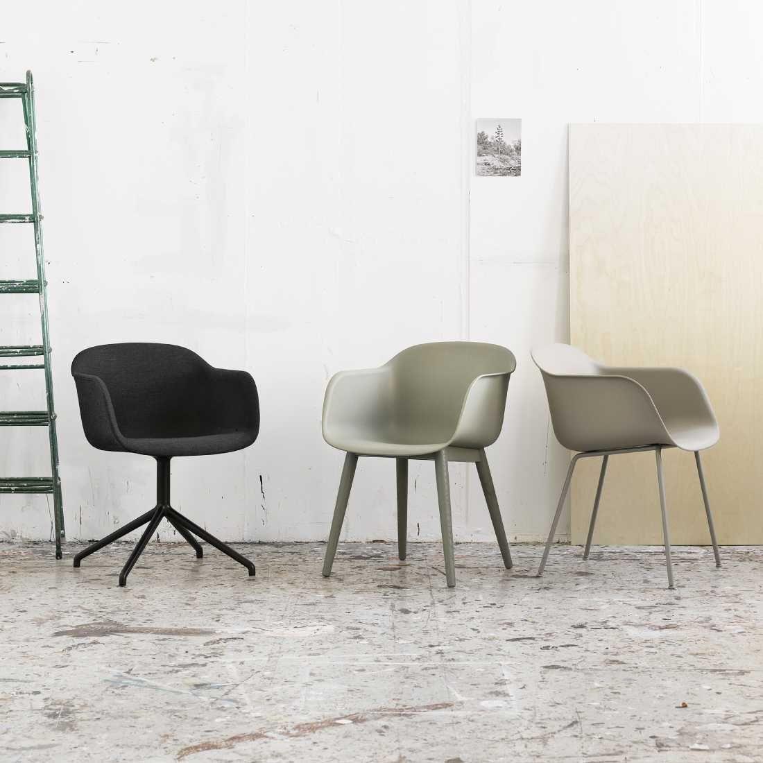 Scandinavische Design Stoelen.Muuto Fiber Chair Stoel Stalen Poten Interieur Meubelontwerp