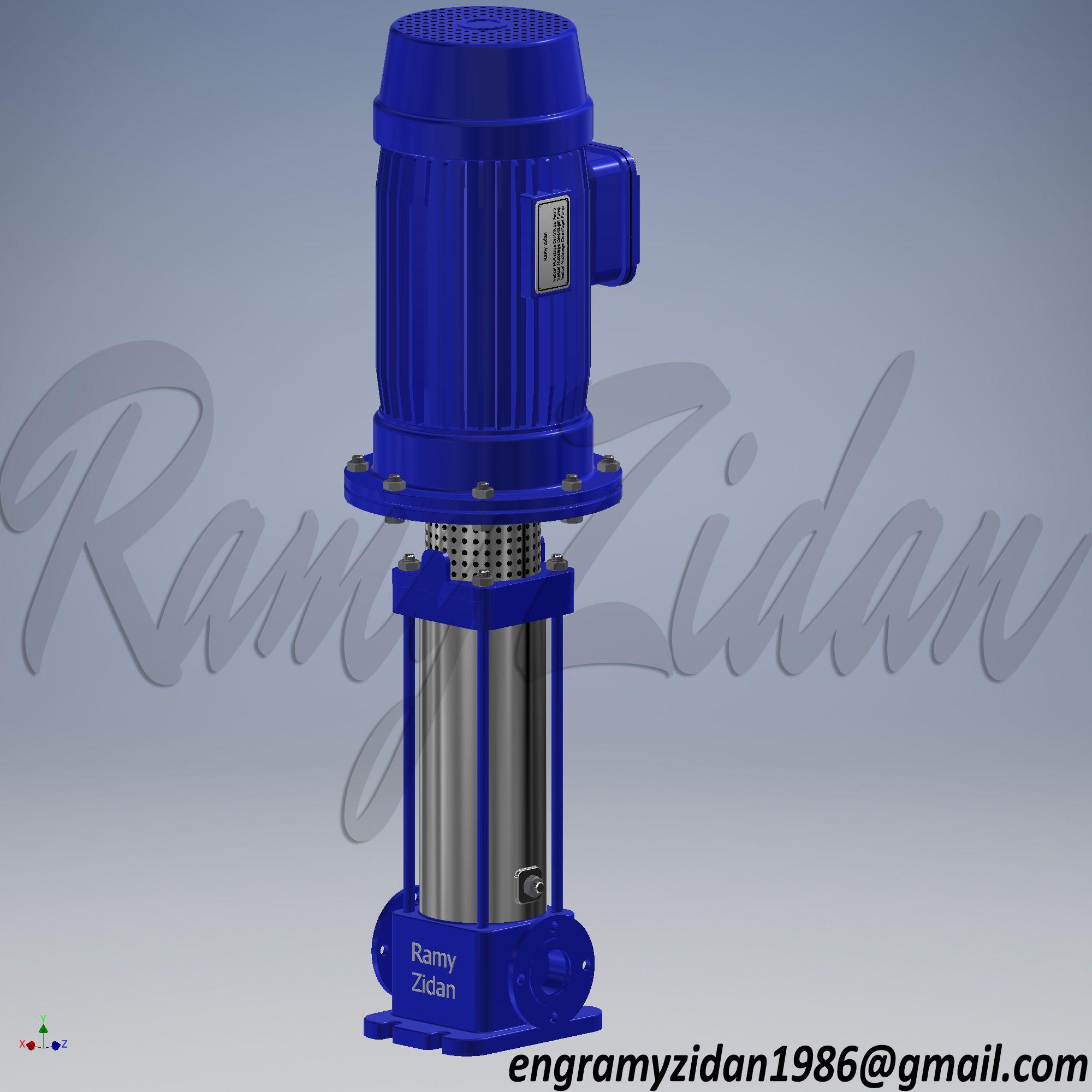 Centrifugal Vertical Pump | Revit Family | Home appliances