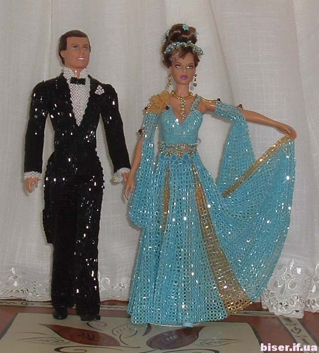 платья  из бисера,платья из бисера фото,платья для кукол из бисера