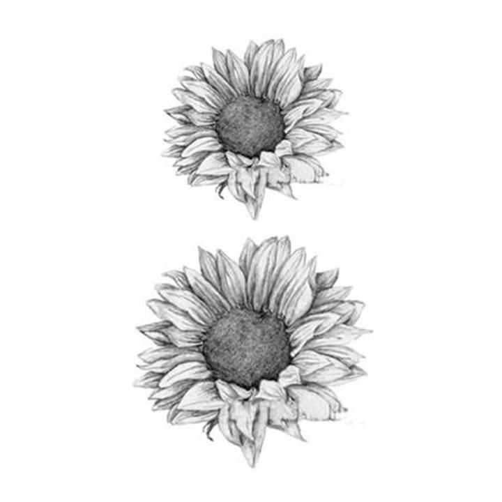 Grace Realistic Black & White Sunflower Temporary