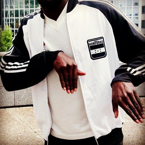 adidas originals superstar track top white rappers