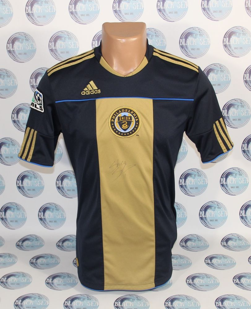 PHILADELPHIA UNION 2009 2010 HOME SIGNED FOOTBALL SOCCER SHIRT JERSEY  CAMISETA  adidas  PhiladelphiaUnion 09485023fda16
