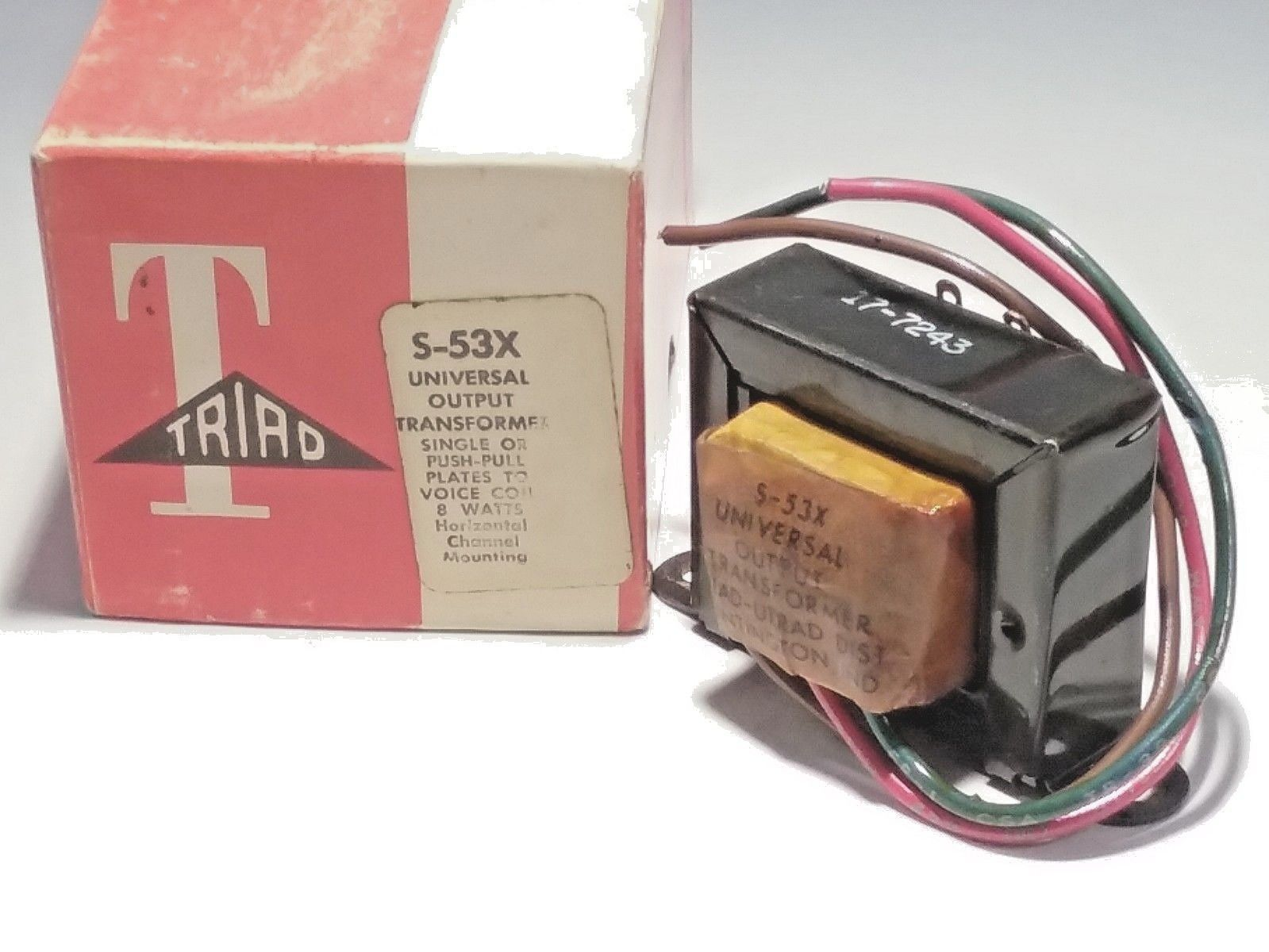 CLICK NOW! (A LOT) UNIVERSAL OUTPUT TRANSFORMER TRIAD S-53X