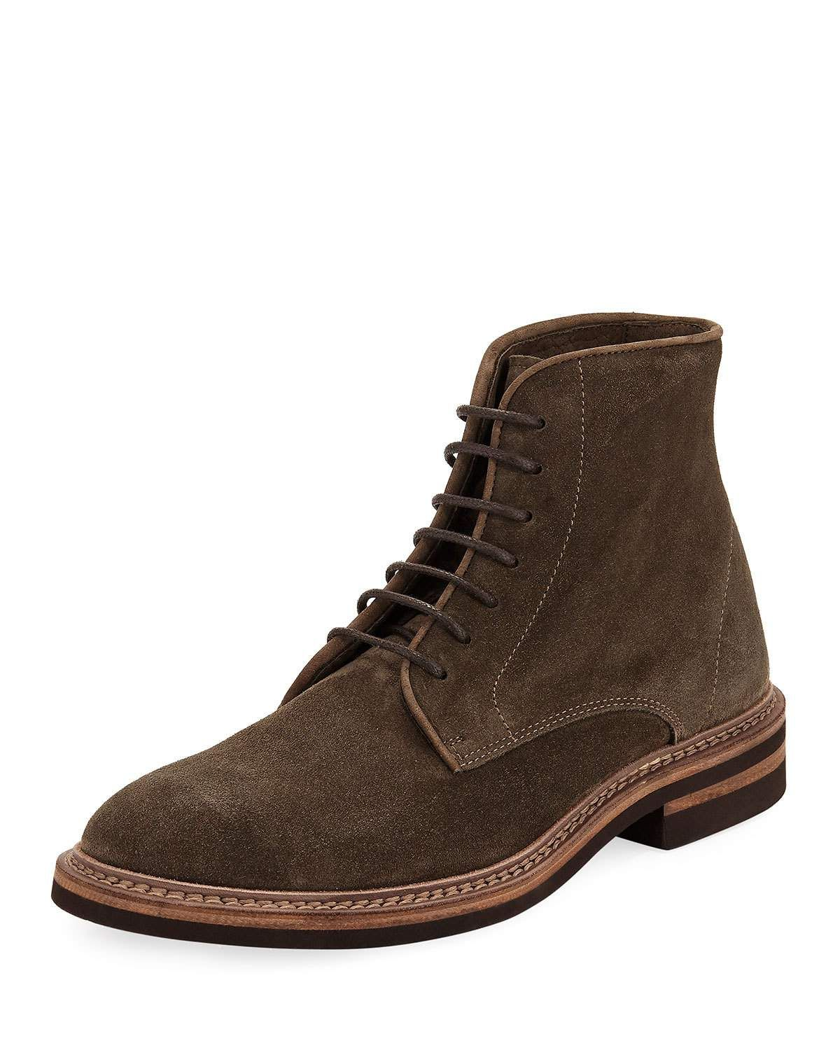 Brunello Cucinelli Leather Lace-Up Boots sale shop for oHOCQ