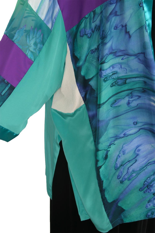 a736b9f7542 Dressy Kimono Jacket Artwear Jade Fuschia Purple Size 26 28
