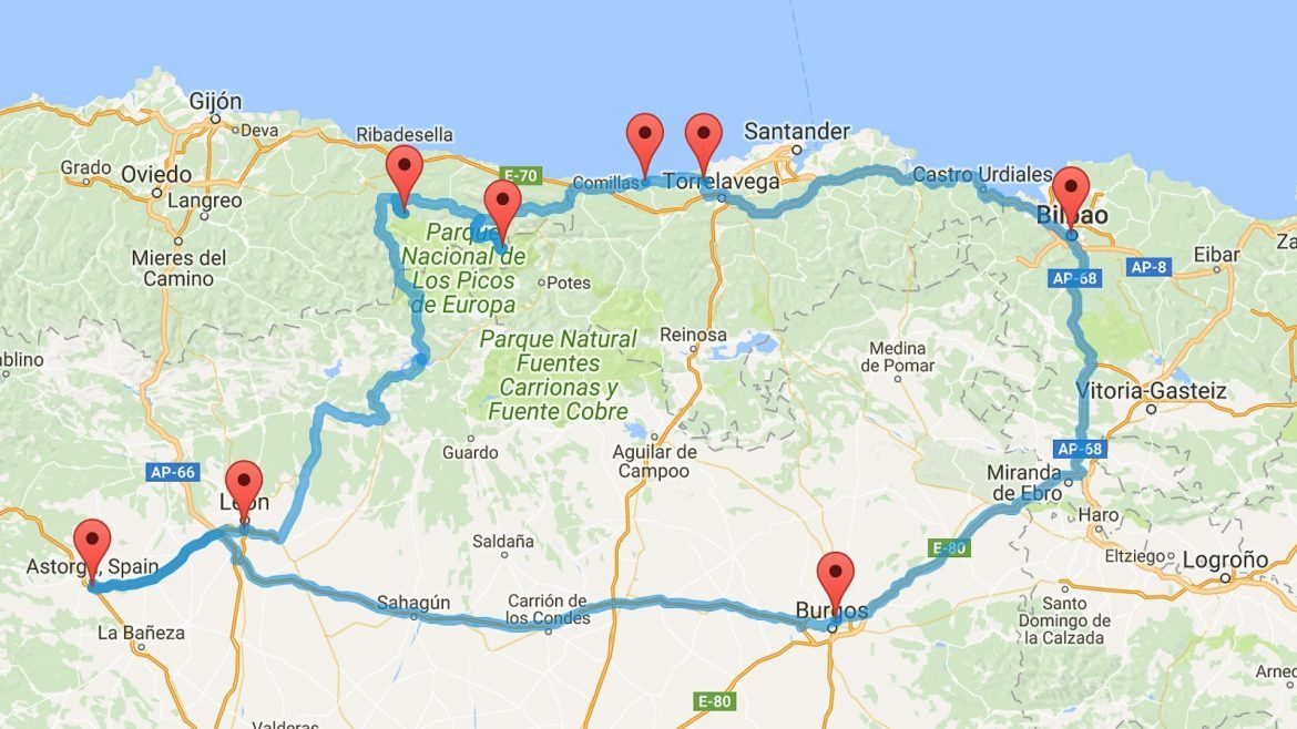 Detailed Road Map Of Spain.The Perfect Northern Spain Road Trip Itinerary Northern