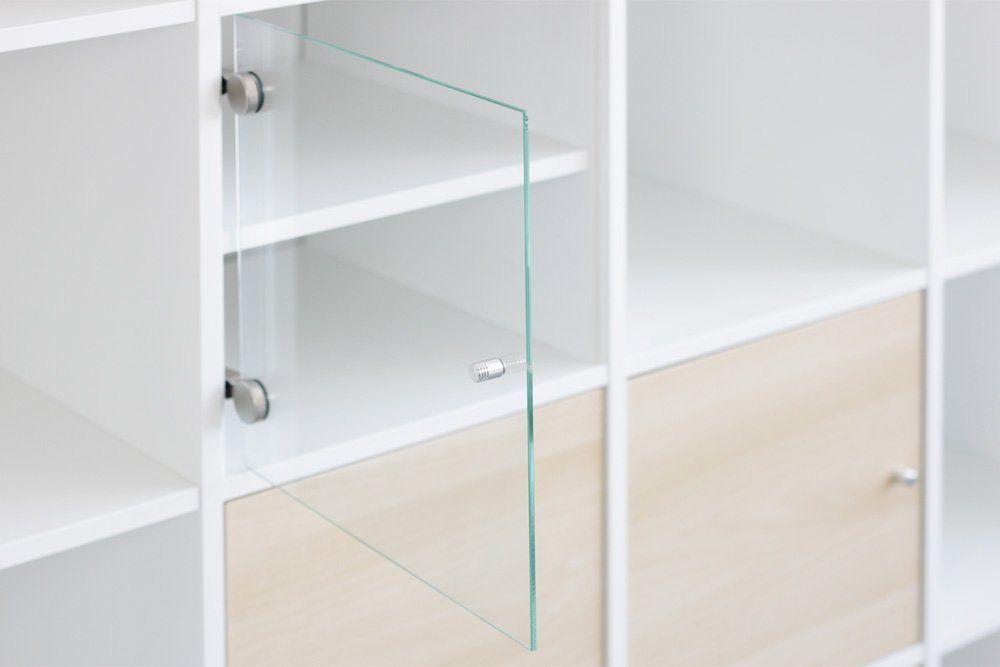Vitrineneinsatz mit Glastür für Ikea Regal Kallax (Birke) Amazon - küchen regale ikea