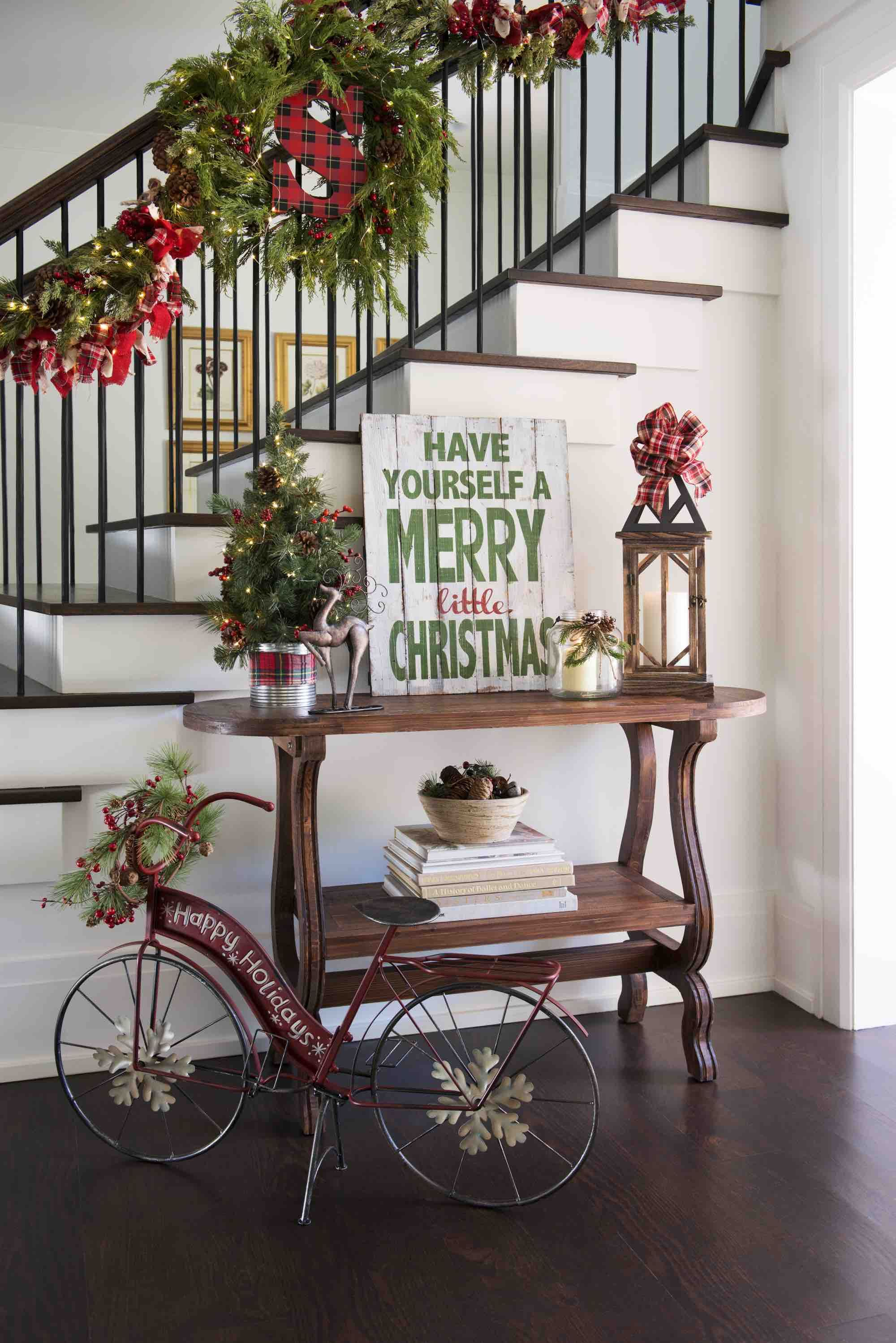 greet guests every day with a holiday themed entryway shop kirklands christmasland collection and learn best practices by reading our christmas entryway - Entryway Christmas Decorations