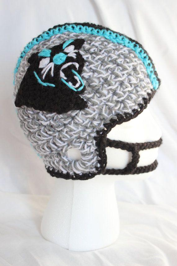 Panthers Adult Size Football Helmet For Boys By Stitchinprincess