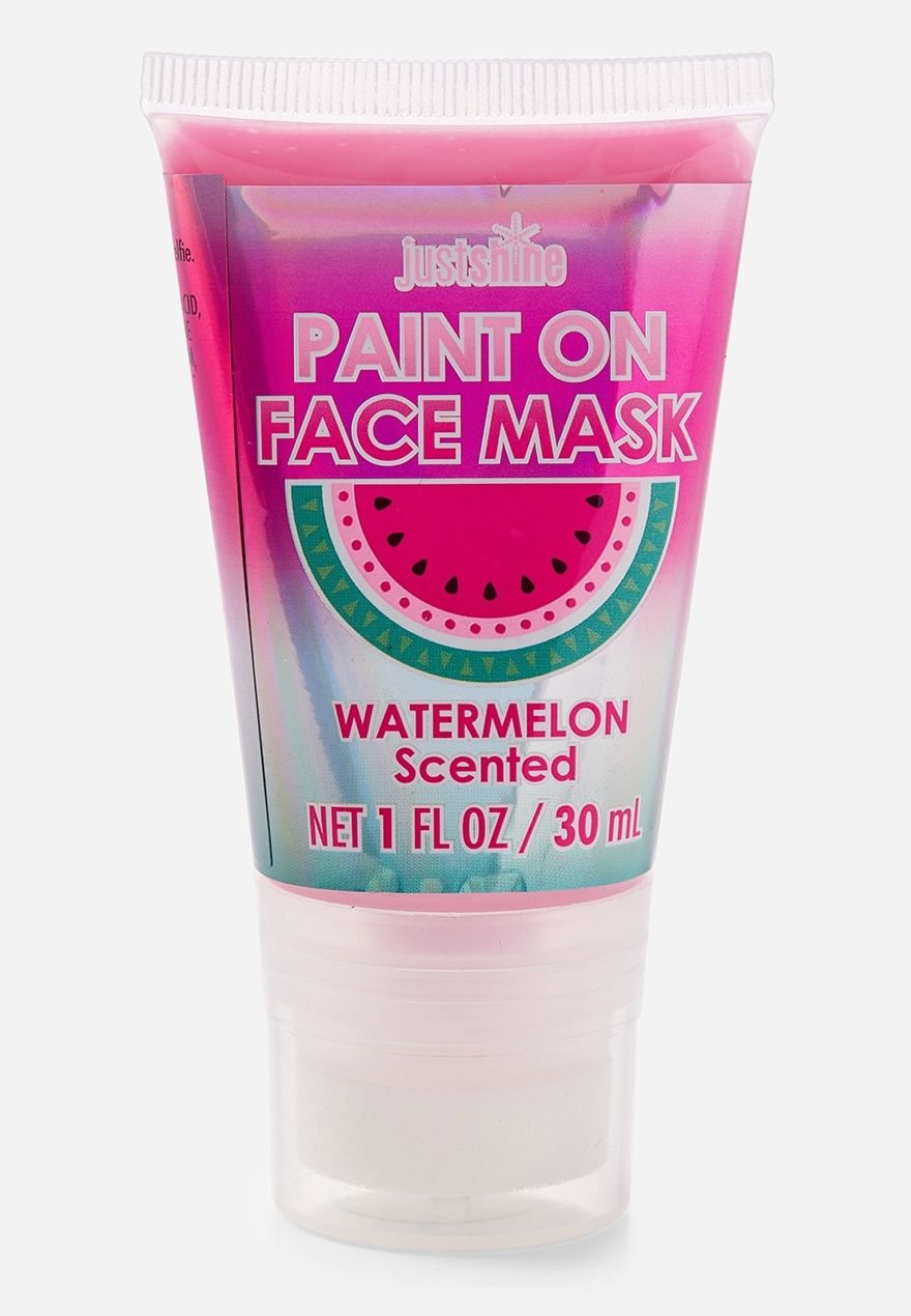 Just shine watermelon paint on face mask justice face