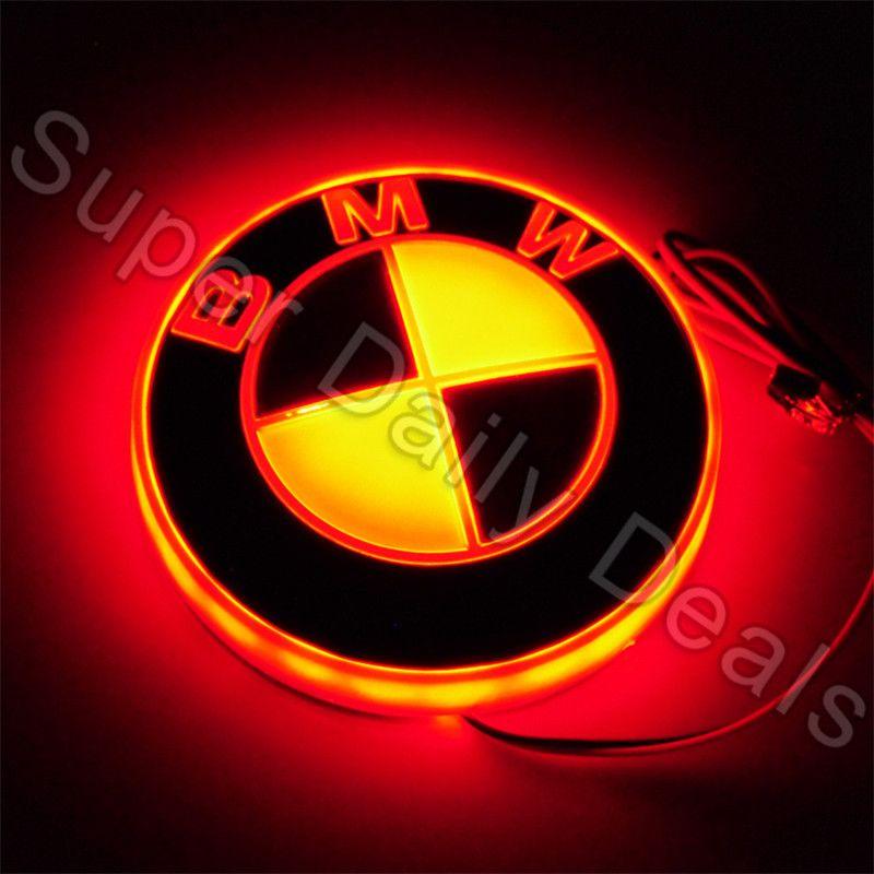 Auto Bmw Led Cahaya Dingin 4d Emblem Badge Sticker Lampu 12 V Untuk